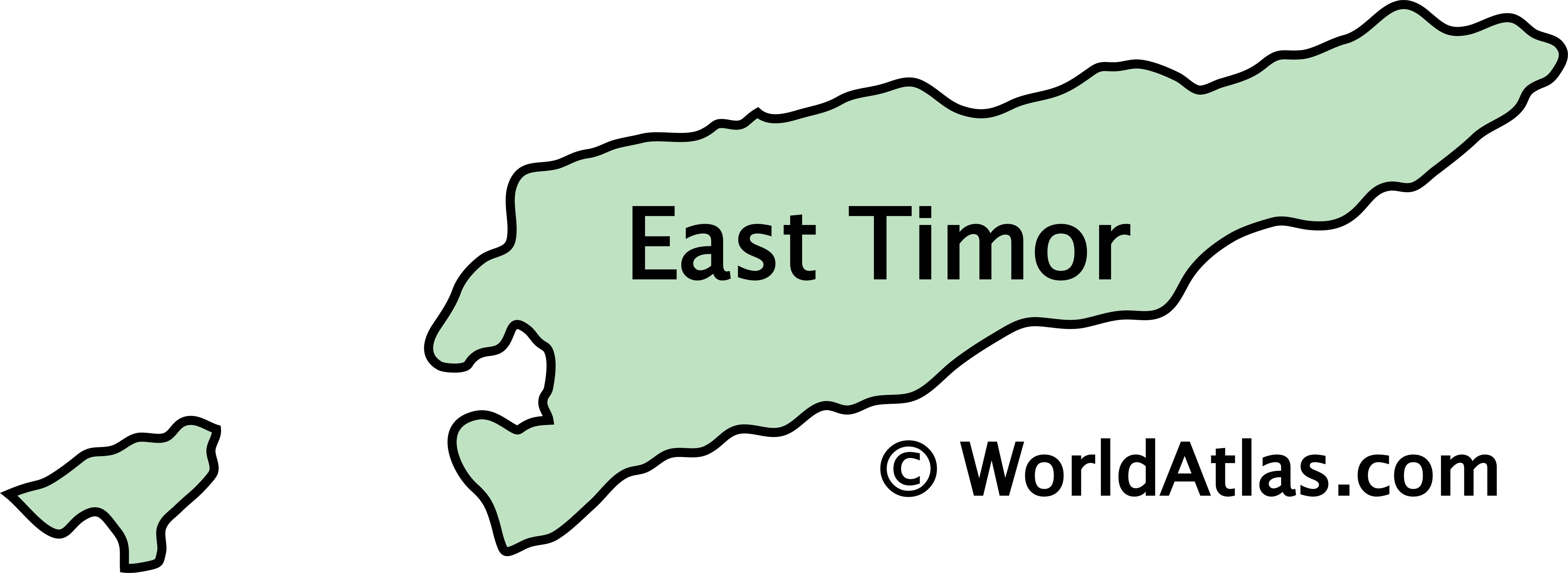 Outline Map of East Timor