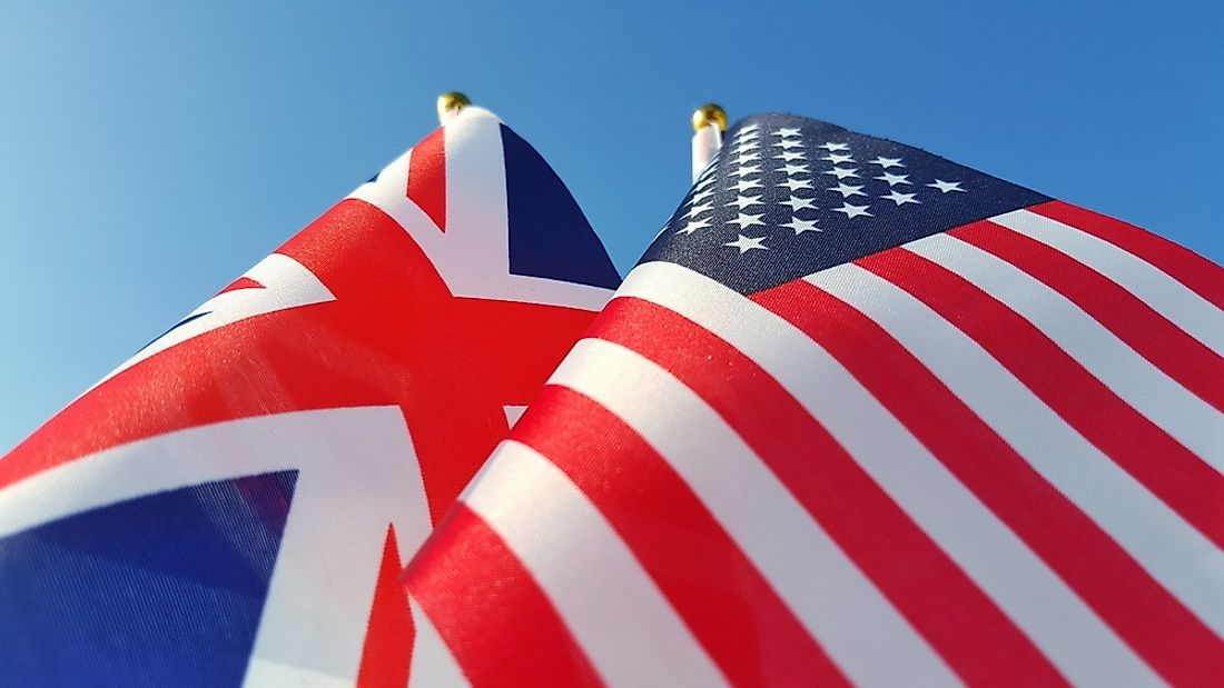The Union Jack and the Star-Spangled Banner are two of the world's most famous blue, red, and white flags.