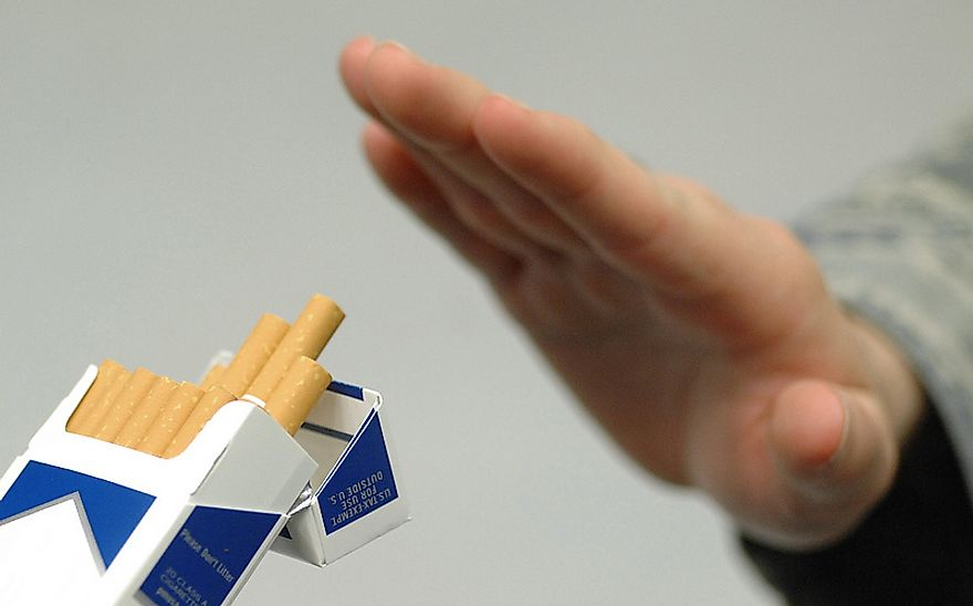 Cigarette smoking is the leading cause of lung cancer in countries across the world.