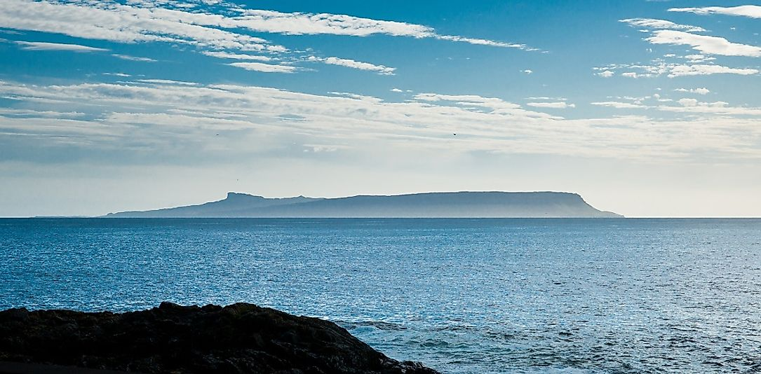 The Isle of Eigg in the distance.