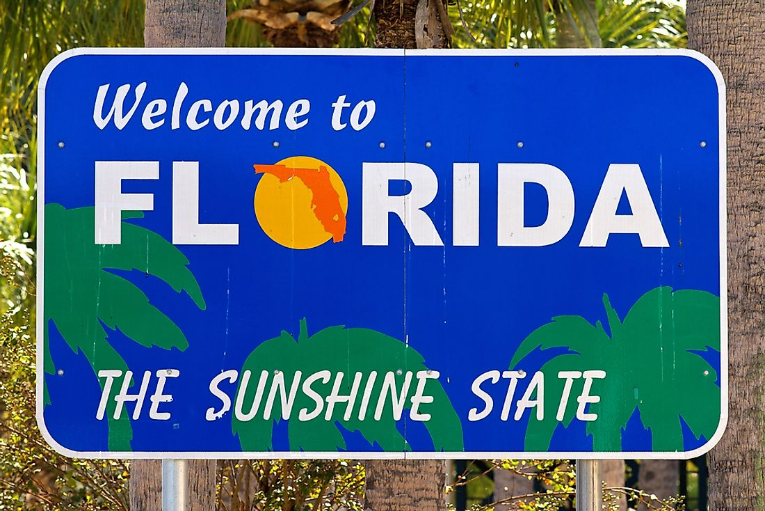 """Welcome to Florida"" sign."