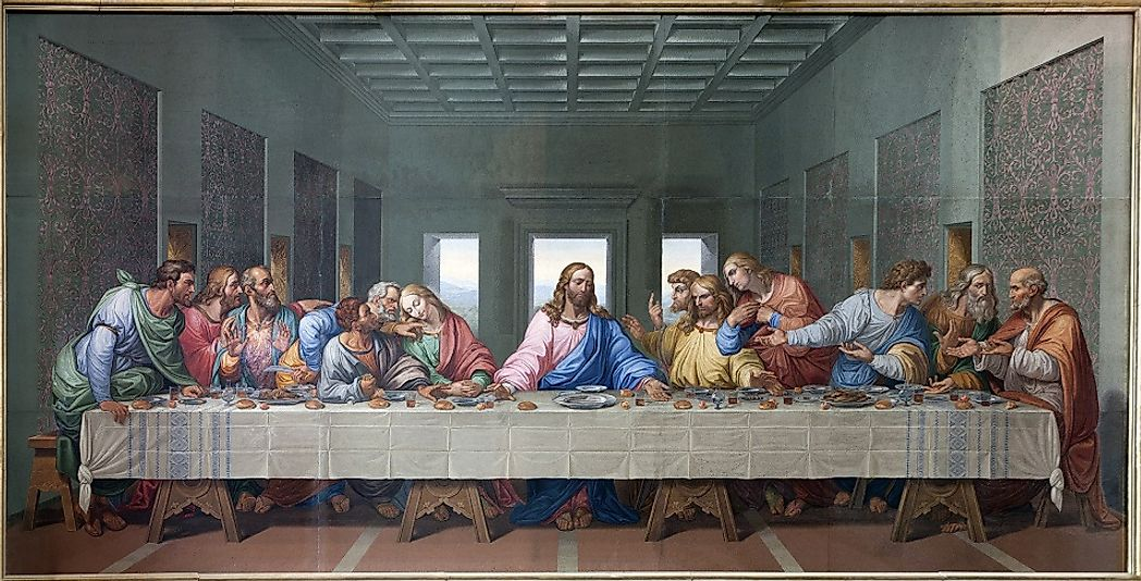 Leonardo Da Vinci's depiction of Jesus and his Disciples at the Last Supper.