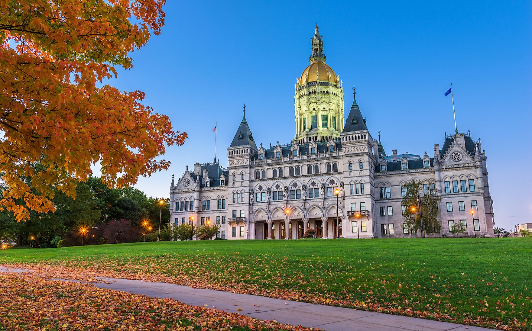 The State Capitol of Connecticut.