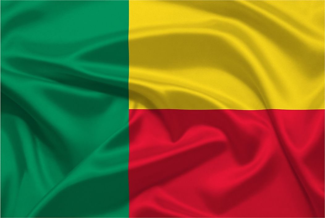 The flag of Benin.