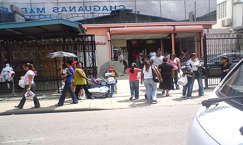 A marketplace in Chaguanas​.