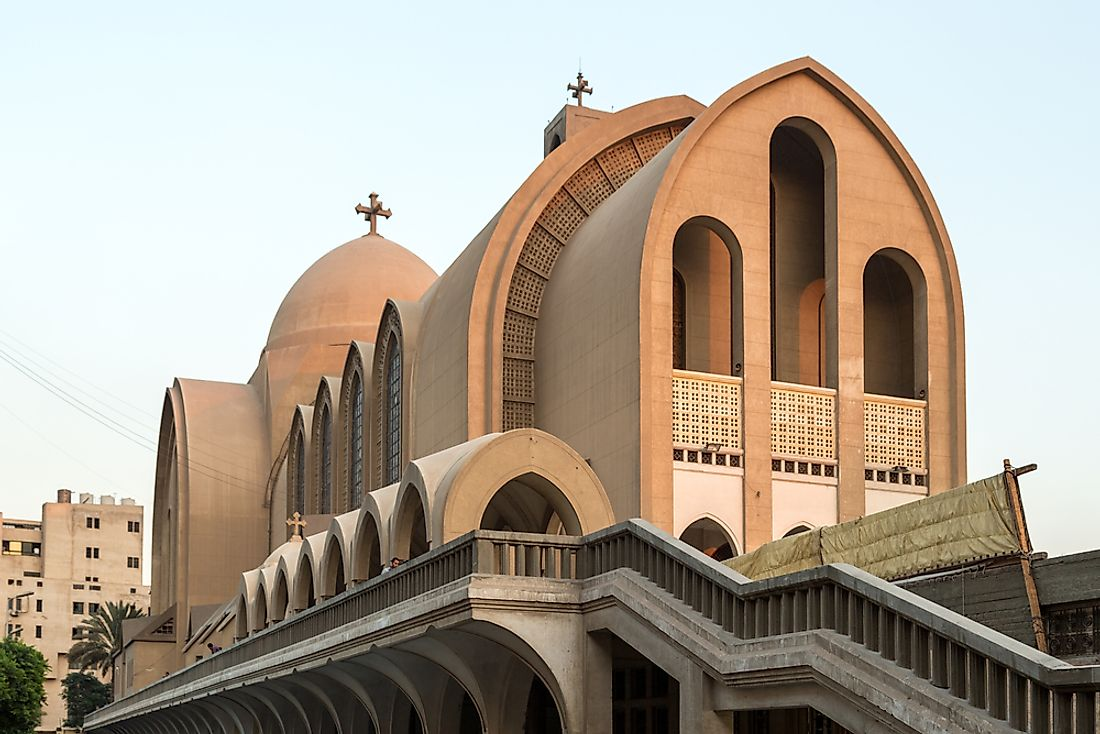Saint Mark's Coptic Orthodox Cathedral in Cairo, Egypt serves as the seat of the Coptic Orthodox Pope.
