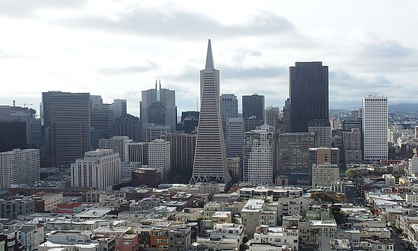 The Transamerica Pyramid is an iconic part of the San Francisco skyline.