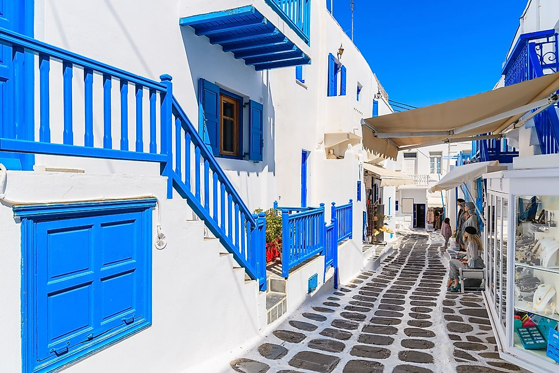 Mykonos, in the Cyclades islands, is one of the most famous places in Greece.