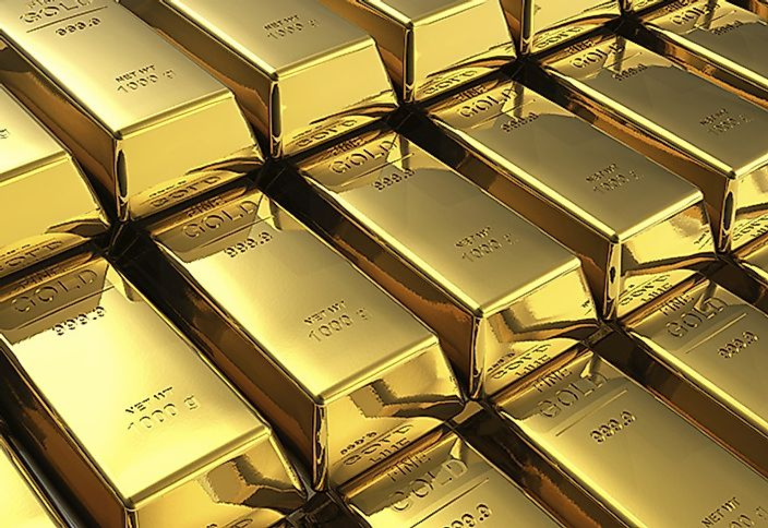 Stacks of solid gold bars