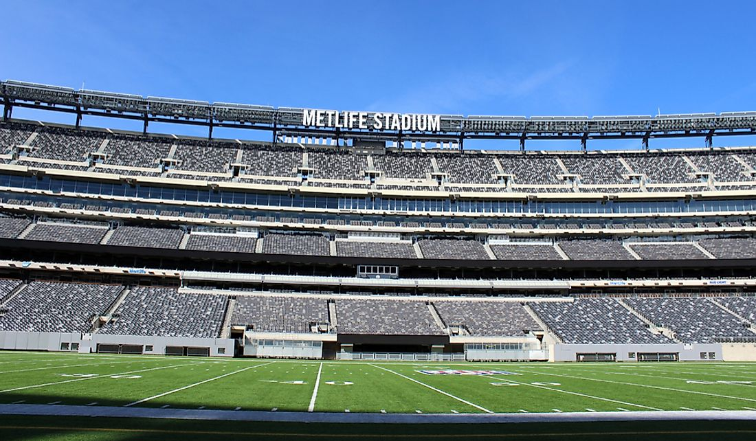 MetLife Stadium in East Rutherford, New Jersey, United States. East Editorial credit: John Arehart / Shutterstock.com
