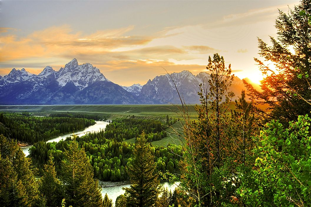 The Snake River in Grand Teton National Park, Wyoming.