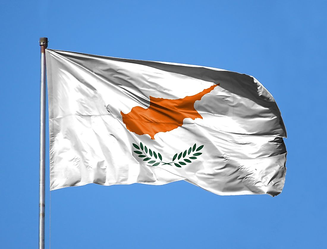 The flag of Cyprus waving in the air.