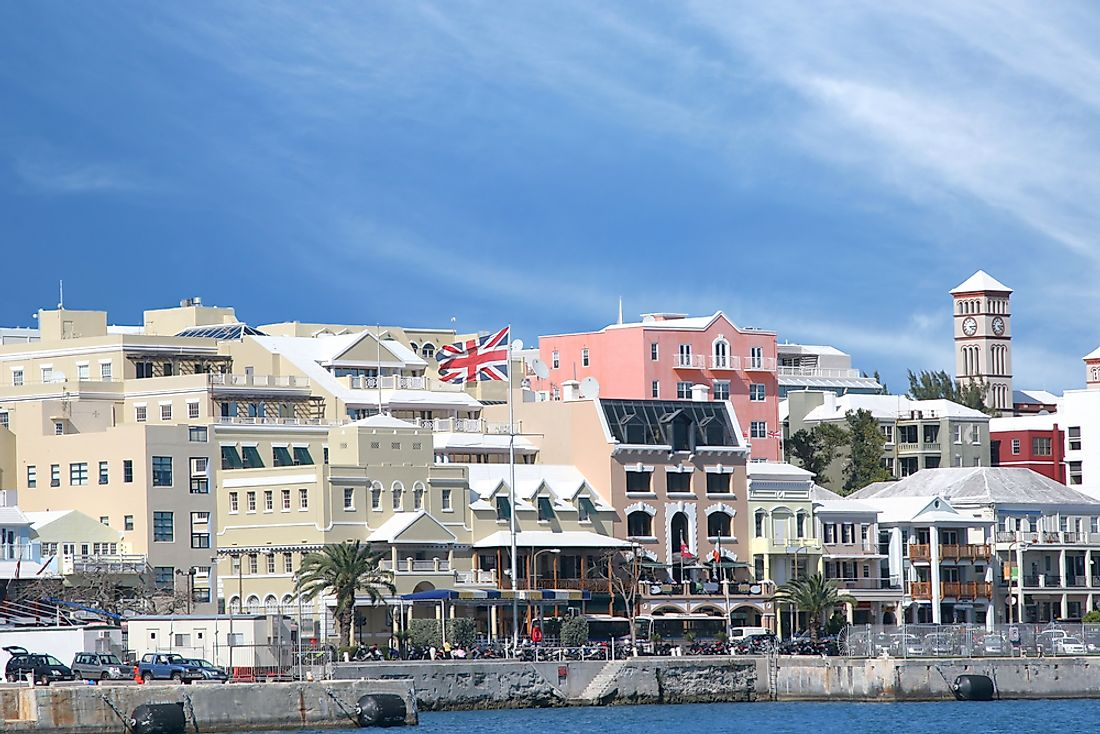 Primarily due to its small size, Bermuda is most densely populated area of North America.