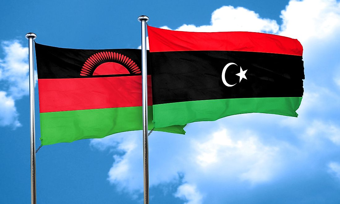 Malawi and Libya both have flags that were recently adopted.