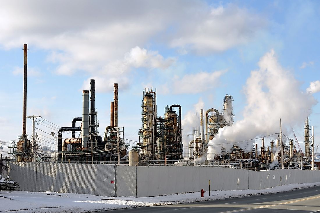 An oil refinery in Nova Scotia, Canada.