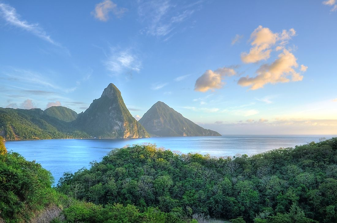 The tropical island of St. Lucia.