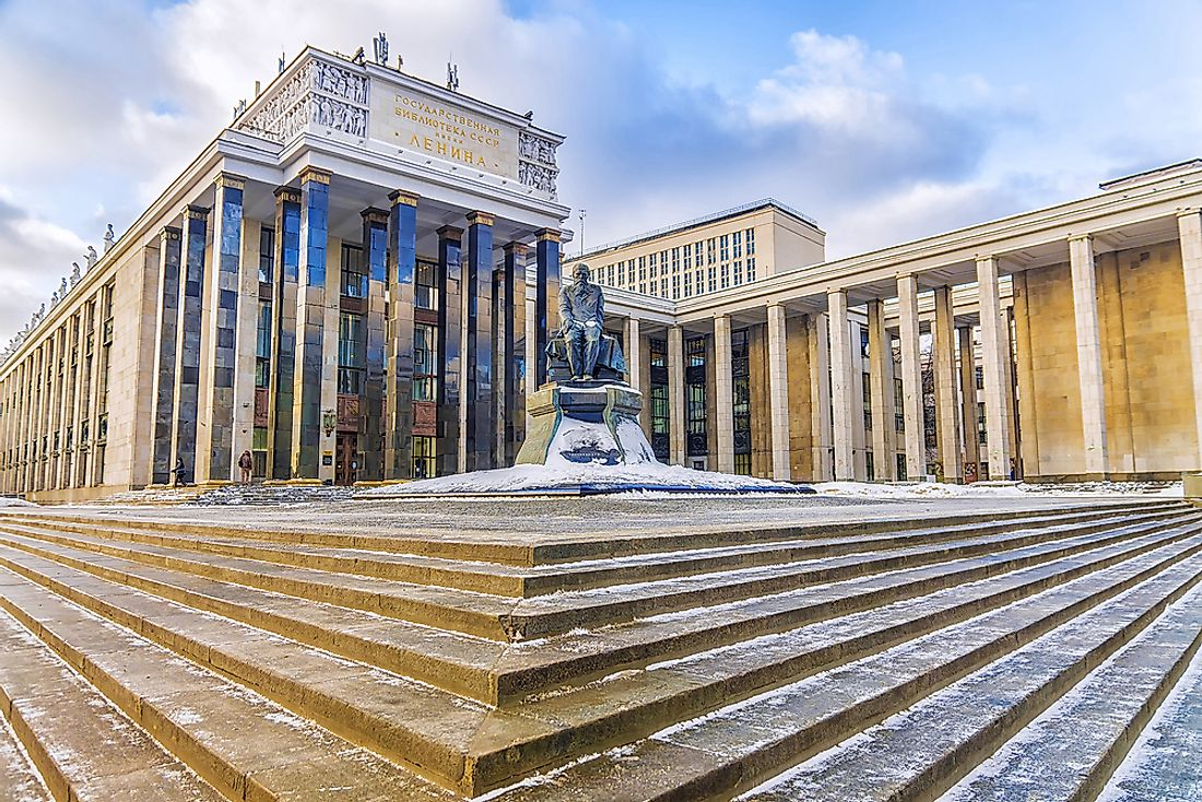 The Russian State Library is the fifth largest library in the world. Editorial credit: dimbar76 / Shutterstock.com.