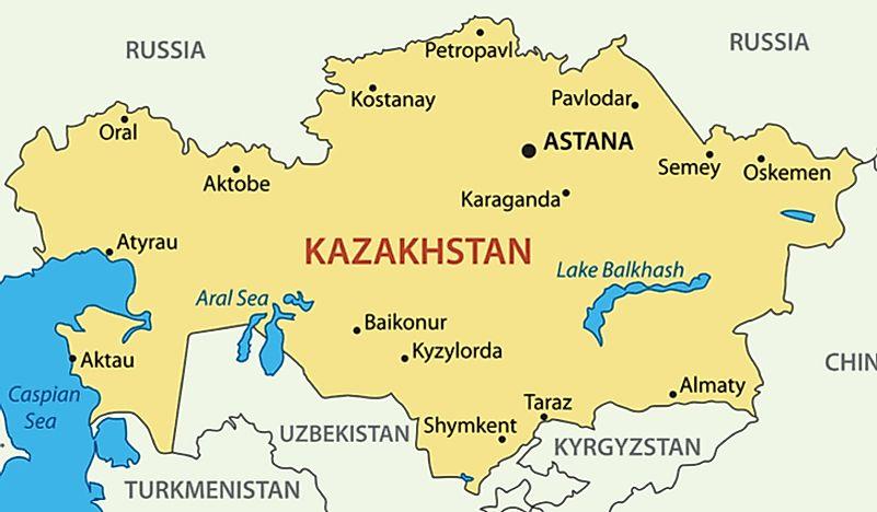Central Asian Countries - WorldAtlas.com