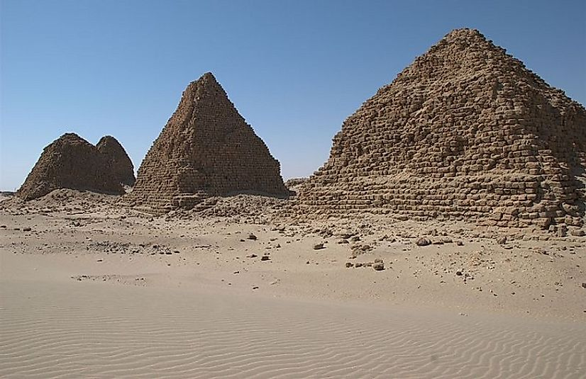 Remnants of the Kushite Nuri pyramids near the ancient Nubian city of Napata (in present-day northern Sudan).
