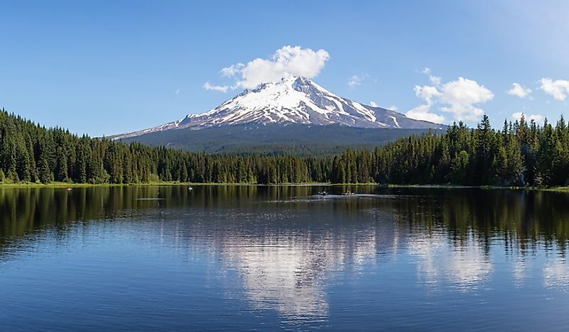 Mount Hood, a notable volcano in Oregon, USA.