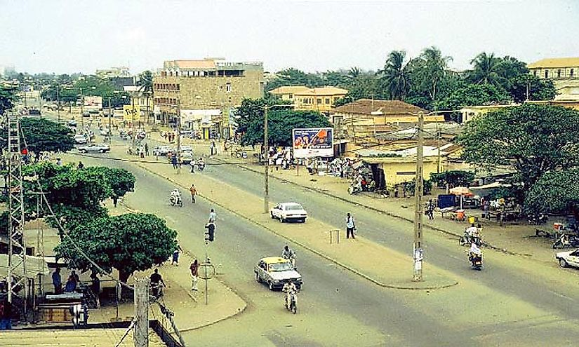 A street scene in Lomé, the biggest city in Togo.