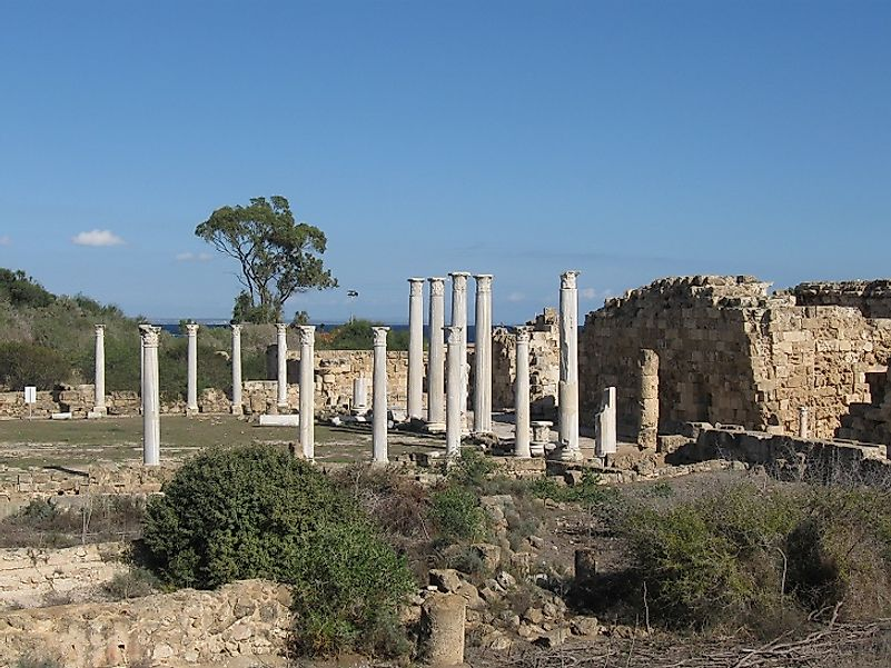 Ancient ruins of Salamis-in-Cyprus, near the site of the Battle of Salamis in the 5th Century BC.