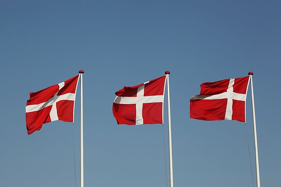 The flag of Denmark features the Nordic Cross.