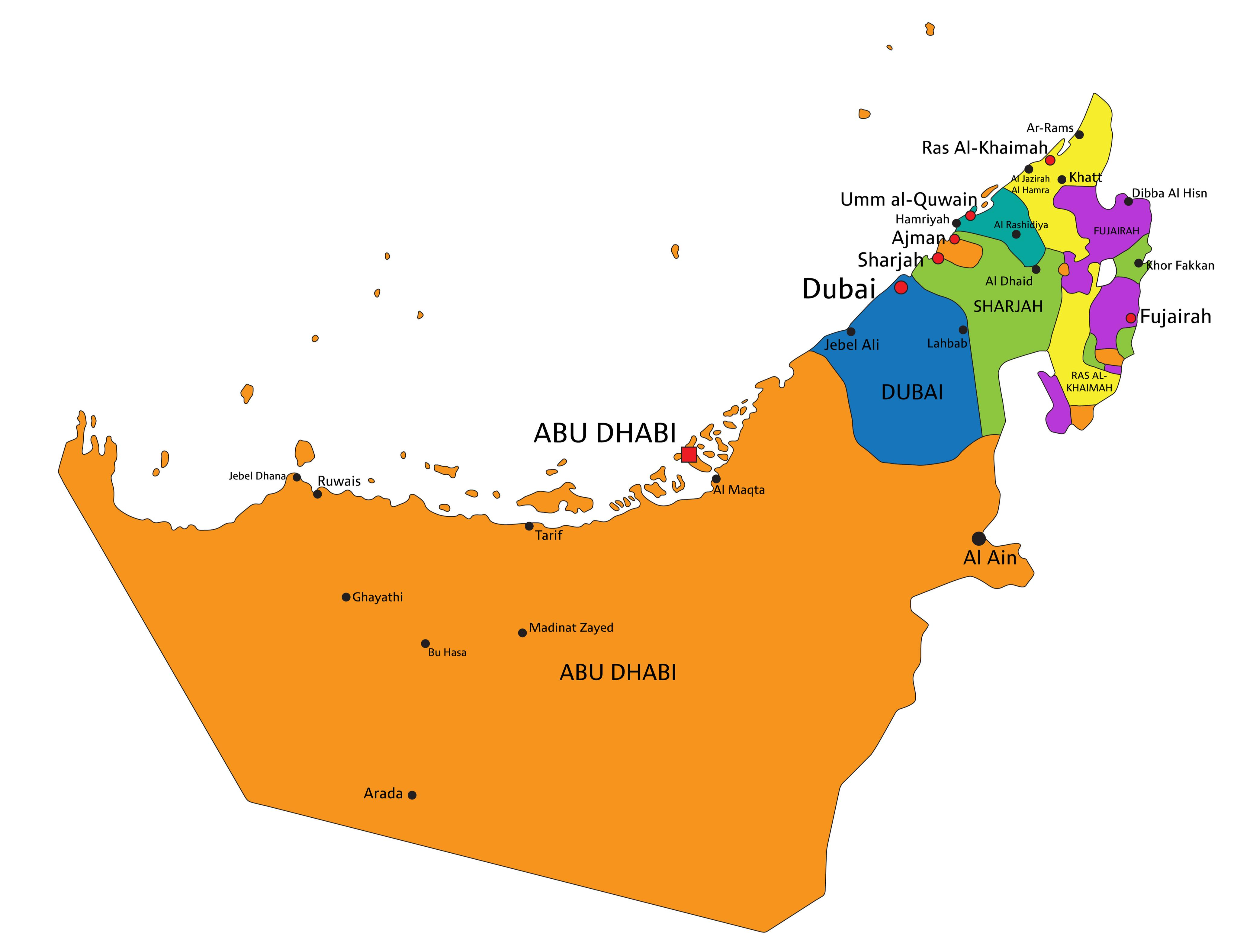 The United Arab Emirates Maps Facts World Atlas