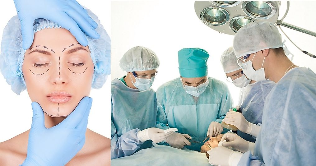 Cosmetic surgeries physically alter a person's body in efforts to achieve a desired appearance.