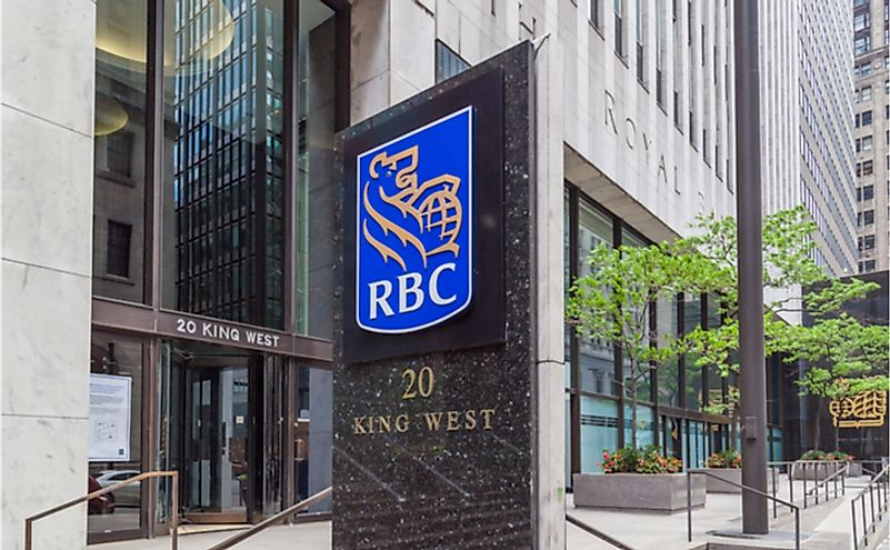 RBC in Toronto's financial district Toronto, Ontario. Editorial credit: JHVEPhoto / Shutterstock.com.