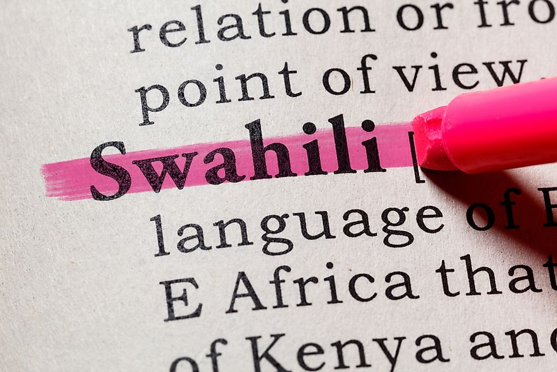 Swahili is one of the official languages of Kenya.