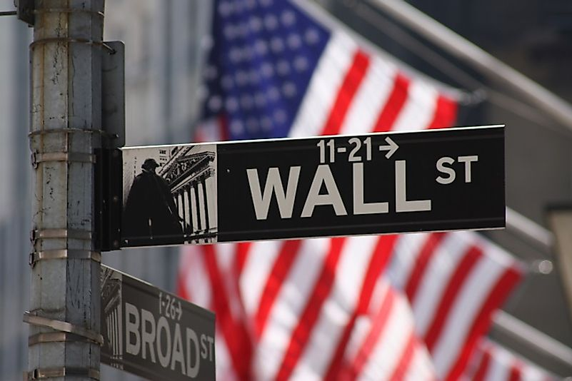 The world's two largest stock exchanges lie in the Wall Street area of Manhattan in New York City, United States of America.