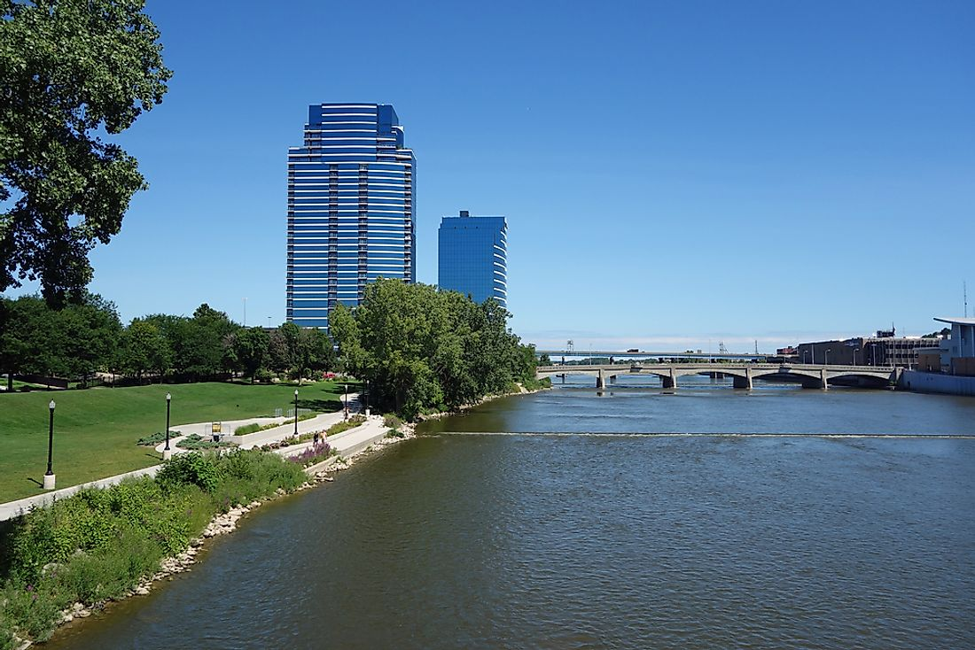 Grand River in Grand Rapids, Michigan.
