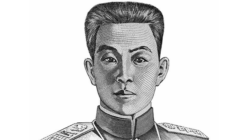 The portrait of the first President of the Philippines, Emilio Aguinaldo, that is used on the five peso banknote.