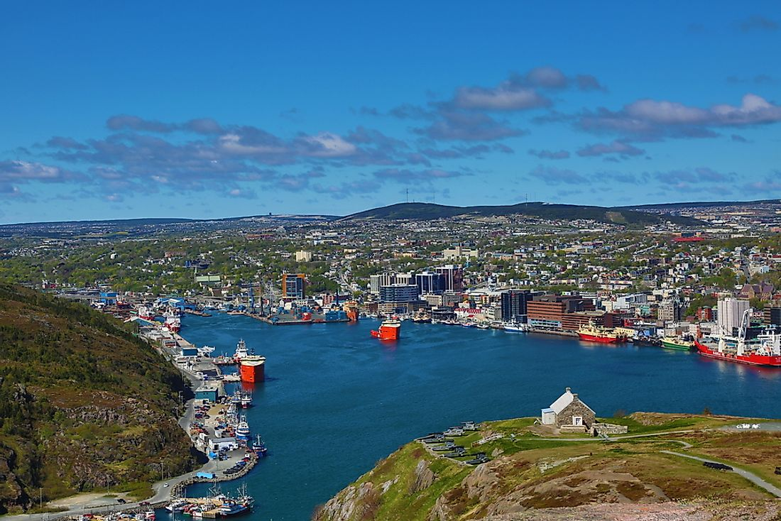 St. John's is the top rated city to live in Newfoundland. Editorial credit: Art Babych / Shutterstock.com