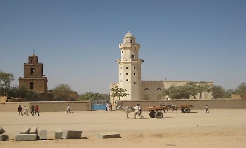 A mosque in Abéché, Chad