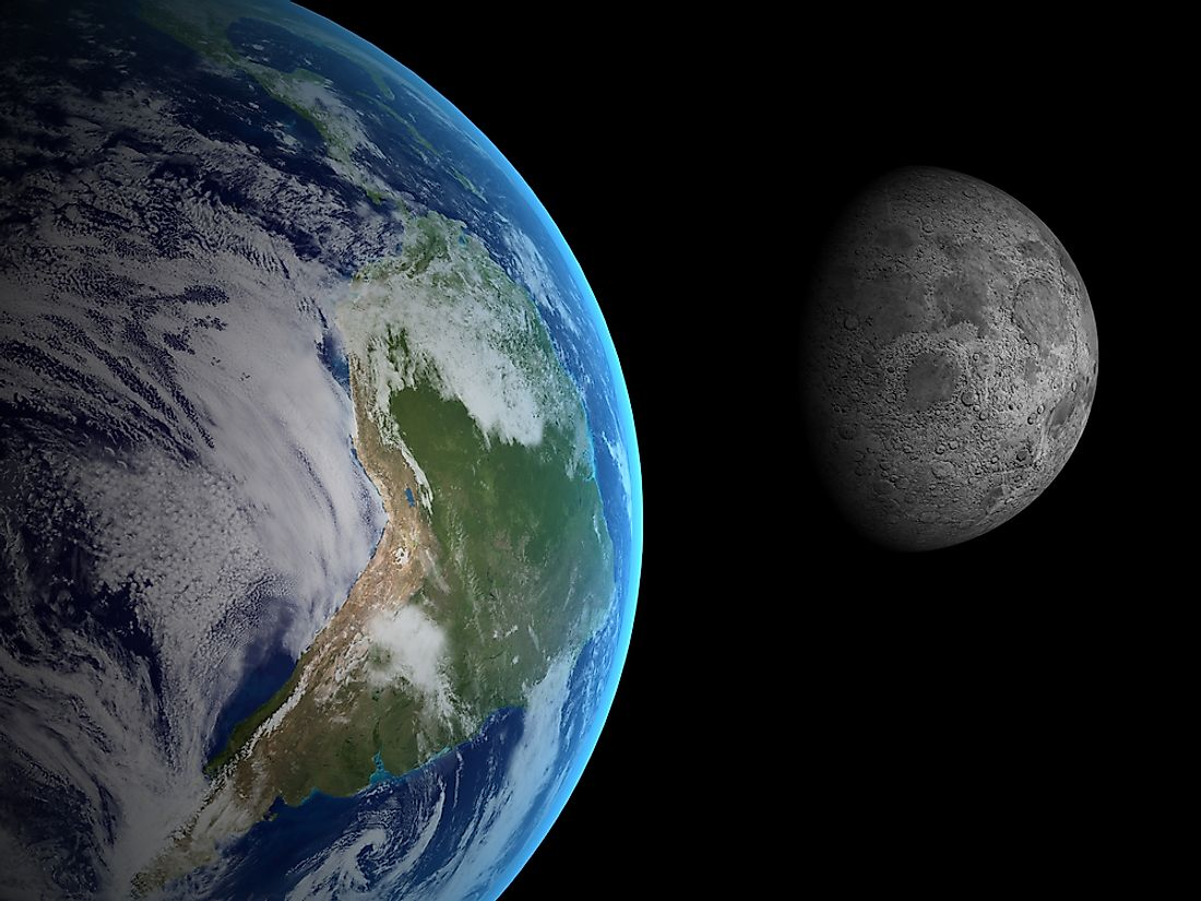 The average distance between the Moon and the Earth is 238,857 miles.
