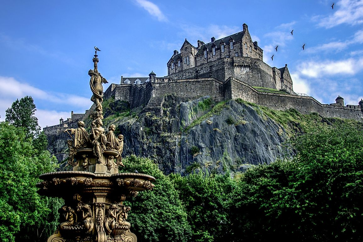 Edinburgh Castle in the summertime.