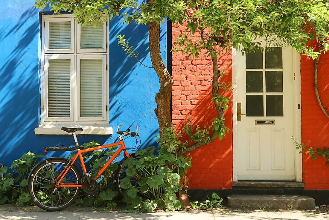 Bicycles and quaint houses: two things synonymous with Danish culture.