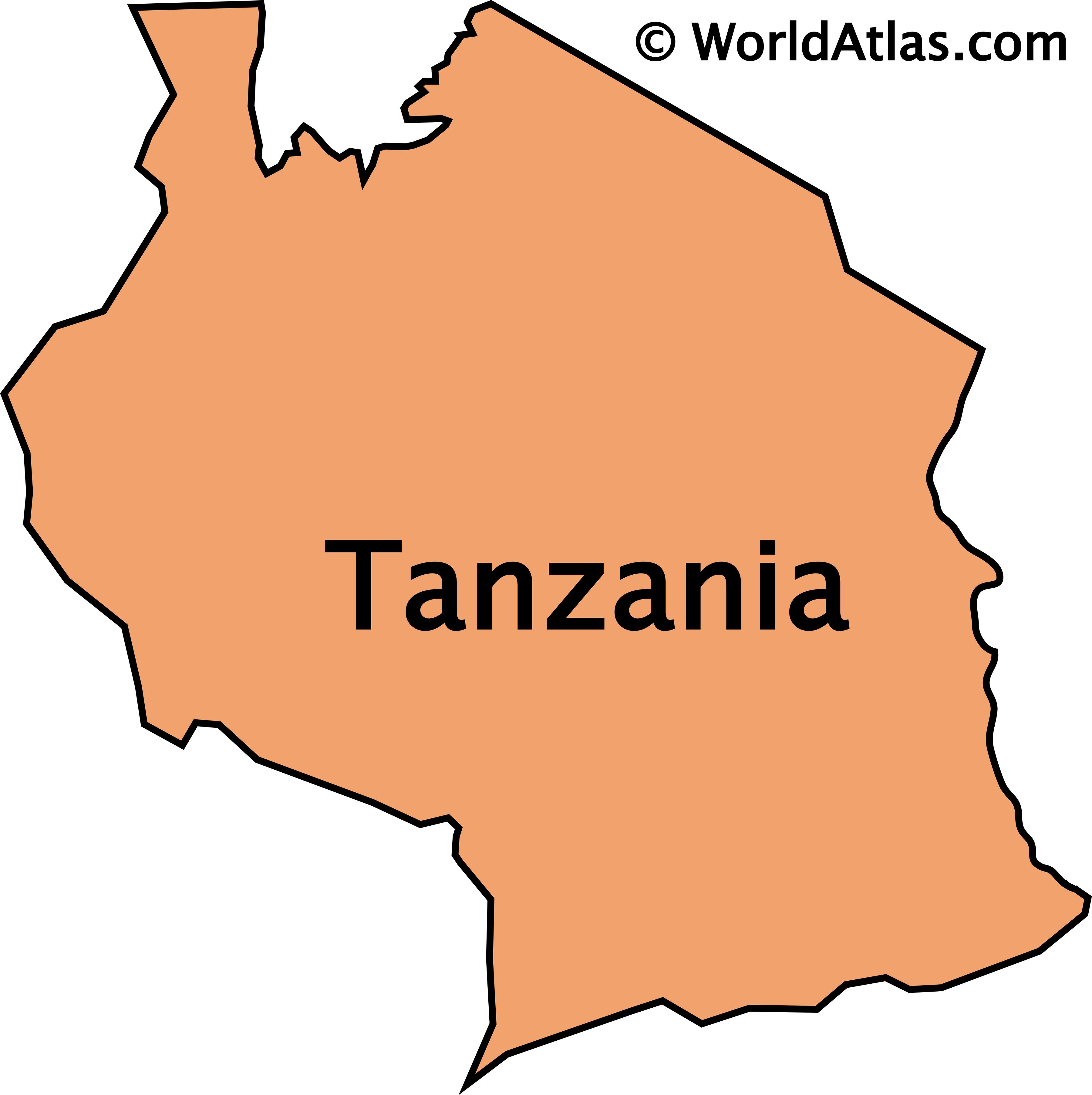 Outline Map Of Tanzania