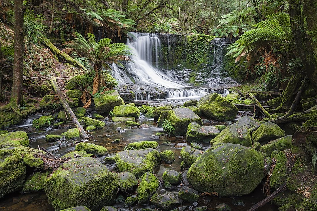 Russell Falls in Tasmania. Tasmania tops our list of travel destinations that tend to fly under the radar.