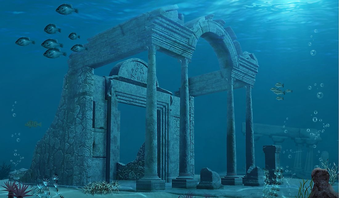 The lost city of Atlantis is supposedly located in the Atlantic Ocean.