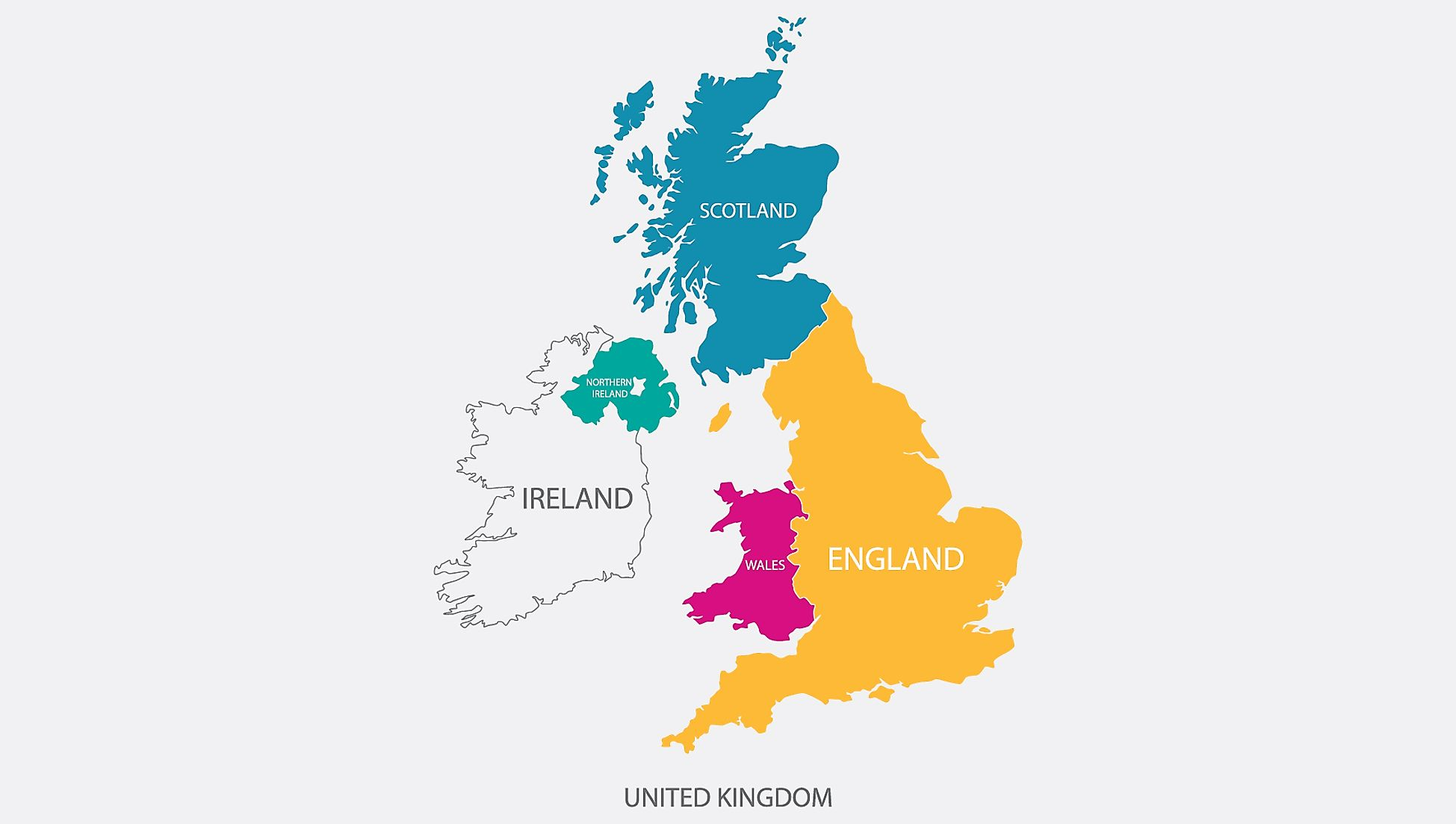 Map of the countries that make up the United Kingdom