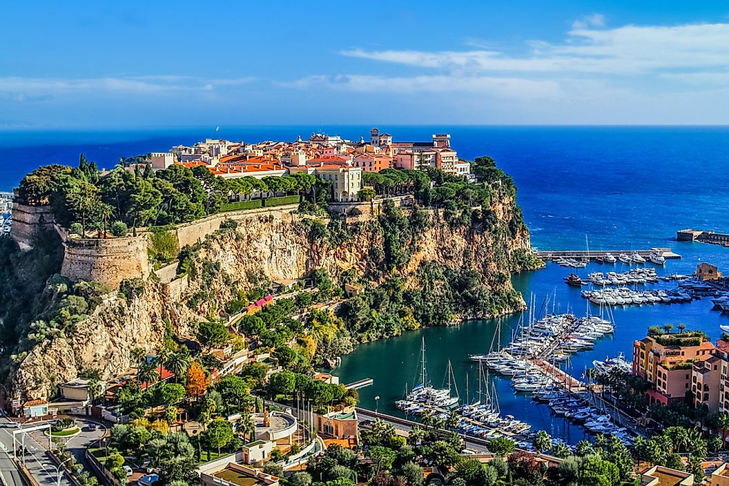 The city-state of Monaco is located on the coast of the Mediterranean Sea.