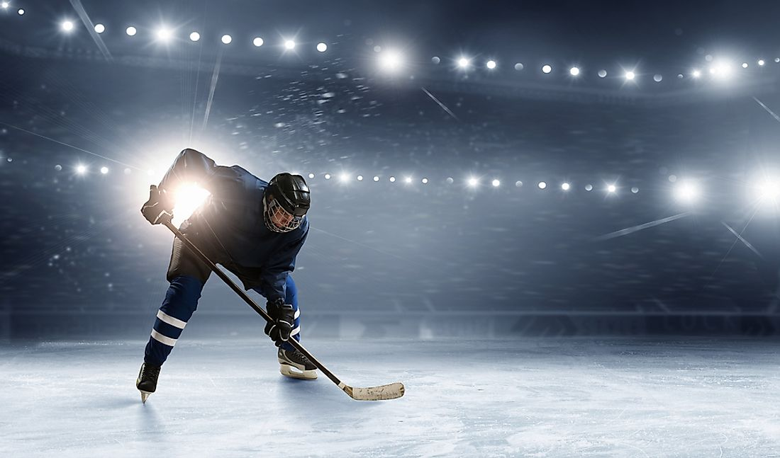 Ice hockey is generally played on an indoor rink.