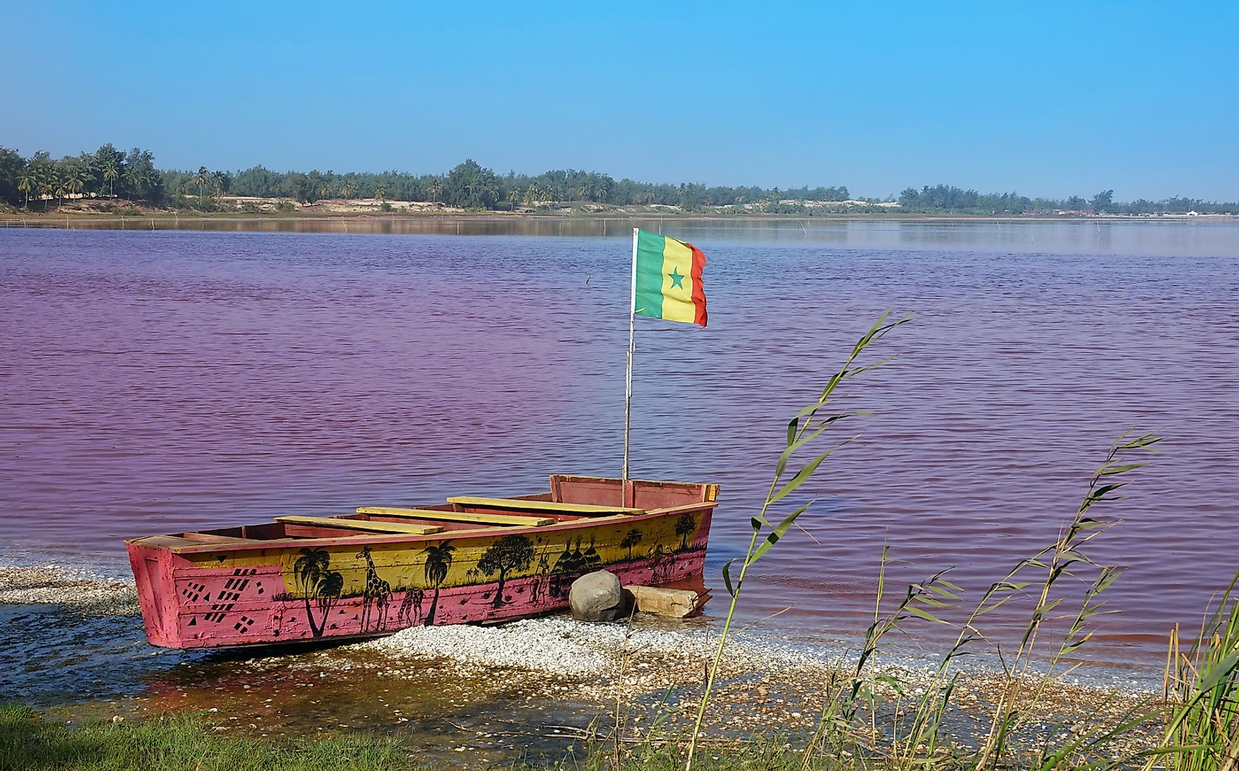 Lake Retba, Senegal.