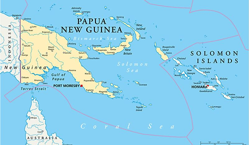 A map showing Bougainville Island, where the battle took place.