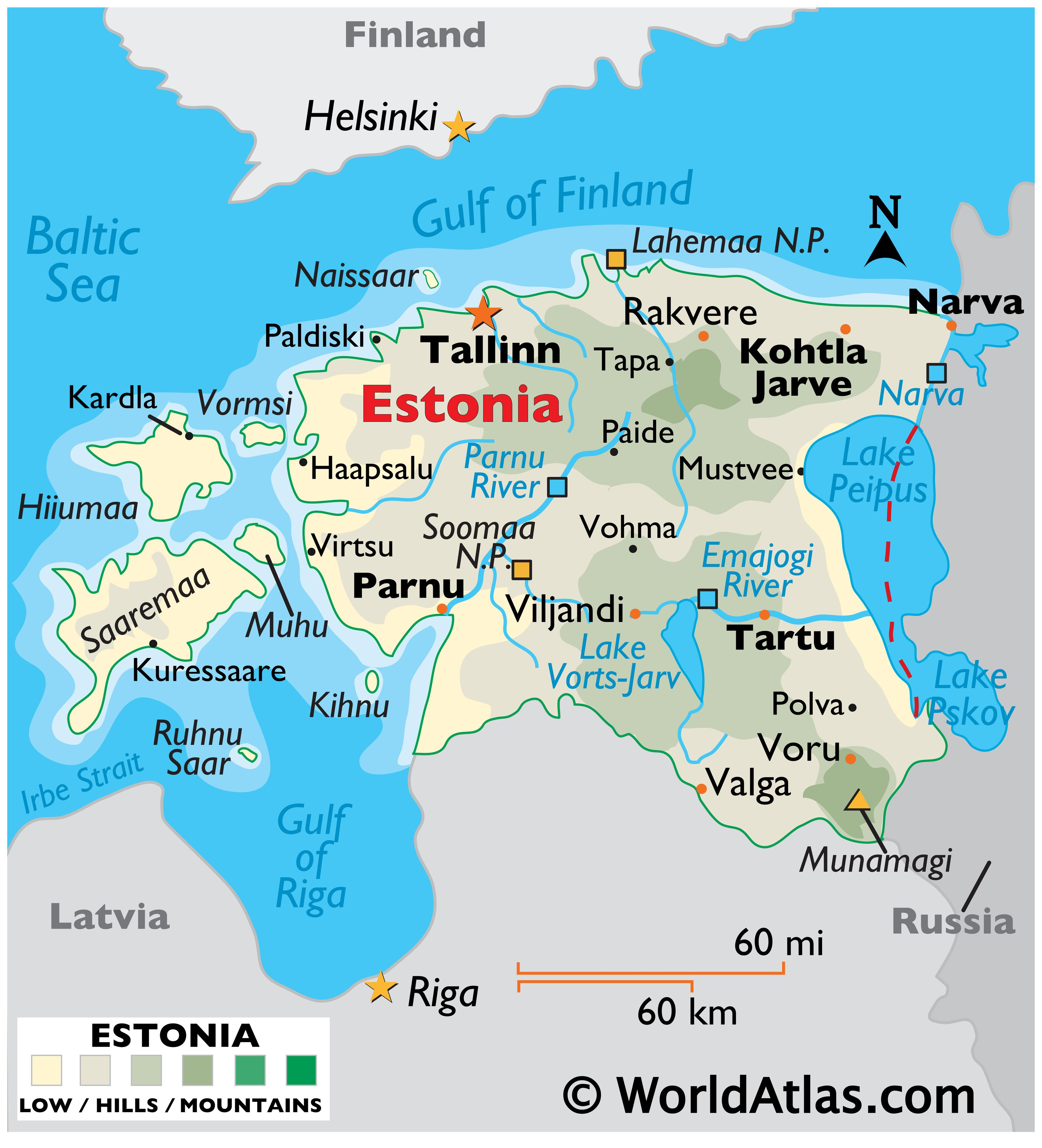 Picture of: Estonia Maps Facts World Atlas