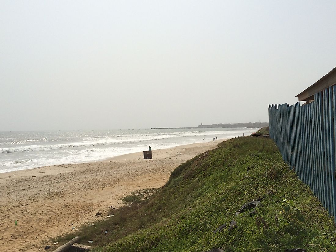 The Gulf of Guinea in Ghana.