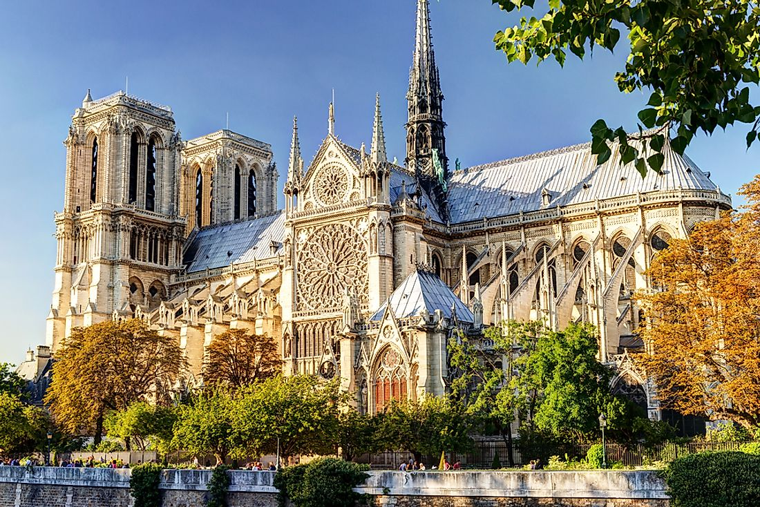 The Notre Dame Cathedral, Paris.